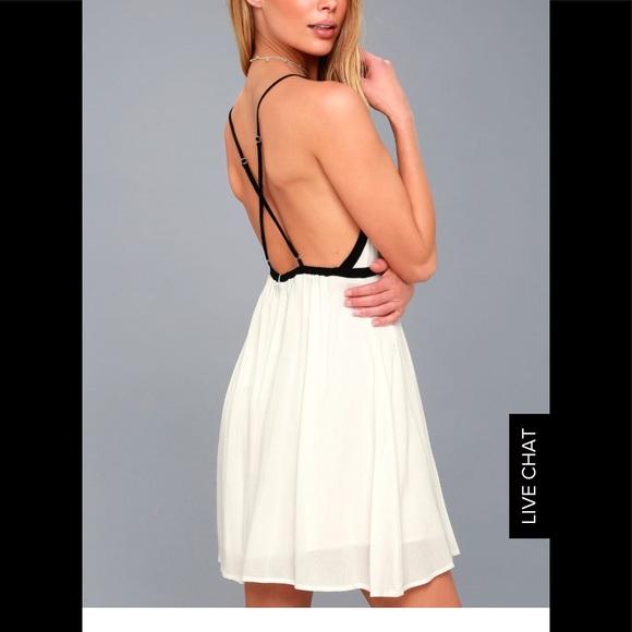 Dresses | Austen White Backless Mini Dress Nwt | Poshmark